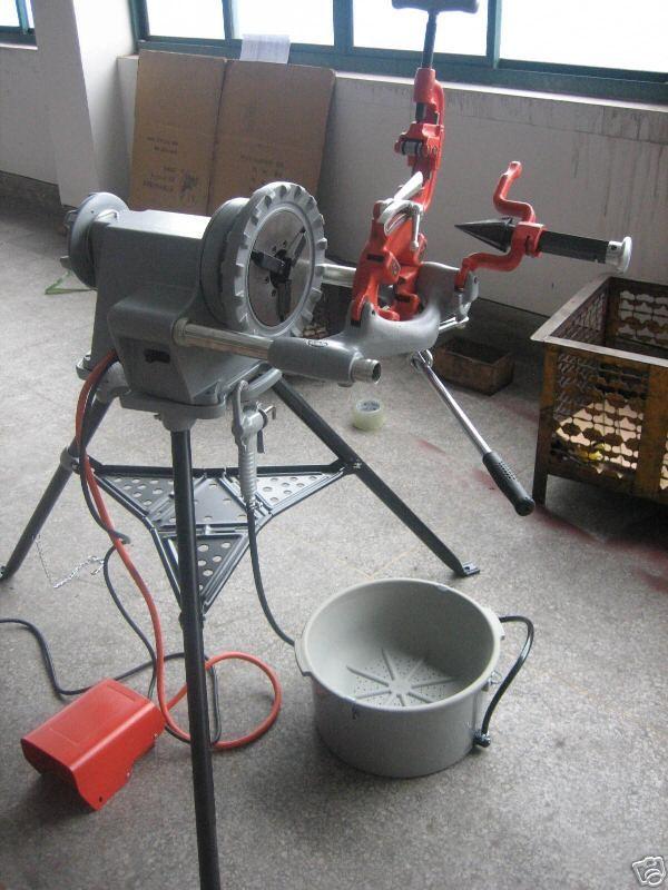 ridgid power threading machine